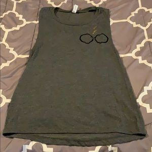 Gray Harry Potter Muscle Tank Top